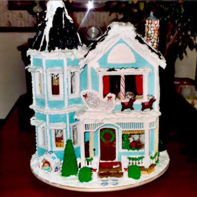 Gingerbread victorian home.