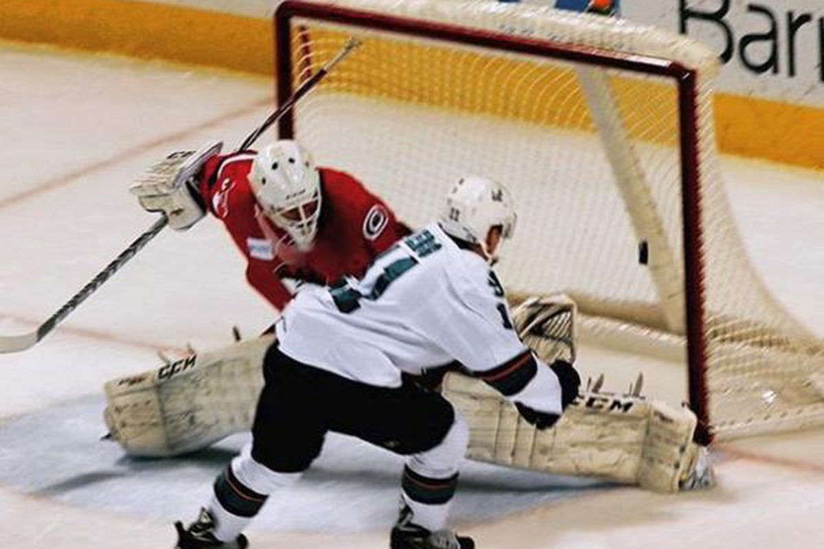 San Jose Barracuda captain Bryan Lerg scores the game winning goal in the shootout Wednesday afternoon at the SAP Center. (Instagram.com/SJBarracuda)
