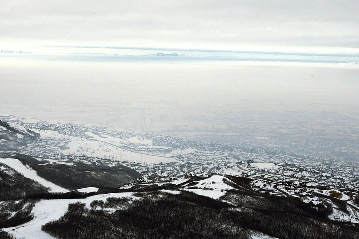 Looking over the Salt Lake Valley with the winter inversion blanketing the valley Tuesday, Jan. 7, 2013.
