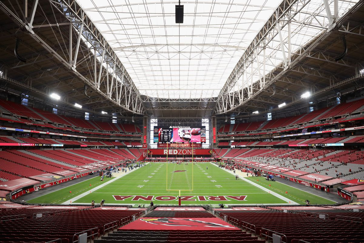 General view in the NFL game between the Arizona Cardinals and the Detroit Lions at State Farm Stadium on September 27, 2020 in Glendale, Arizona.