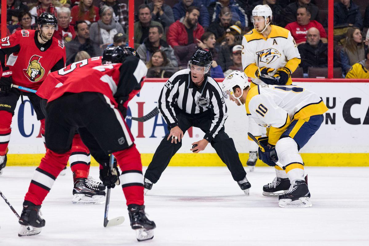 NHL: DEC 17 Predators at Senators