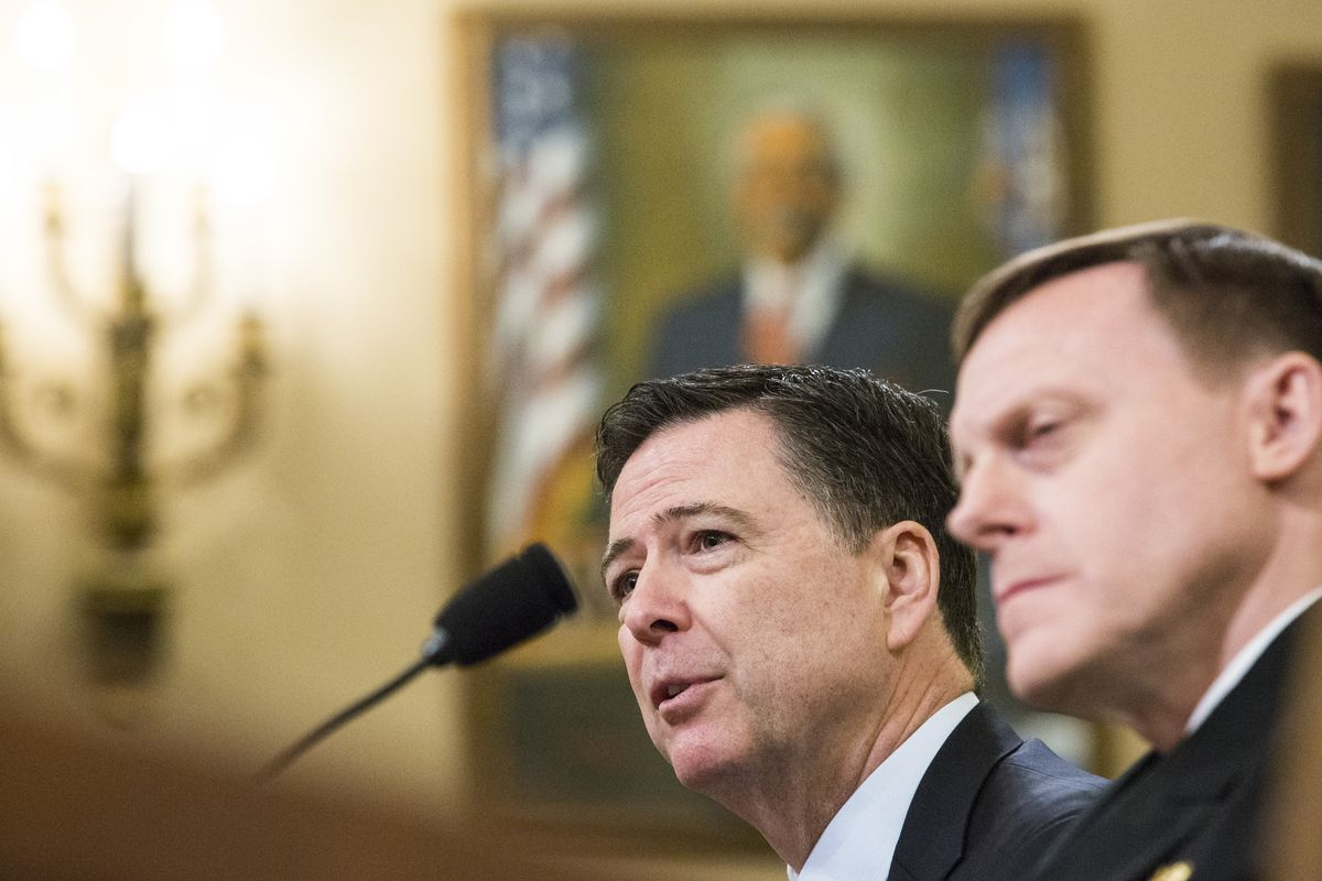 FBI Director Comey Testifies At Hearing On Alleged Russian Election Meddling