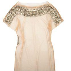 "<b>Alberta Ferretti</b> embellished tulle top, <a href=""http://www.theoutnet.com/product/240417"">$165</a> (was $1,095)."