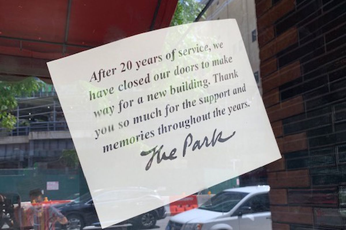 NYC Restaurant The Park Closes After 20 Years — and More NYC