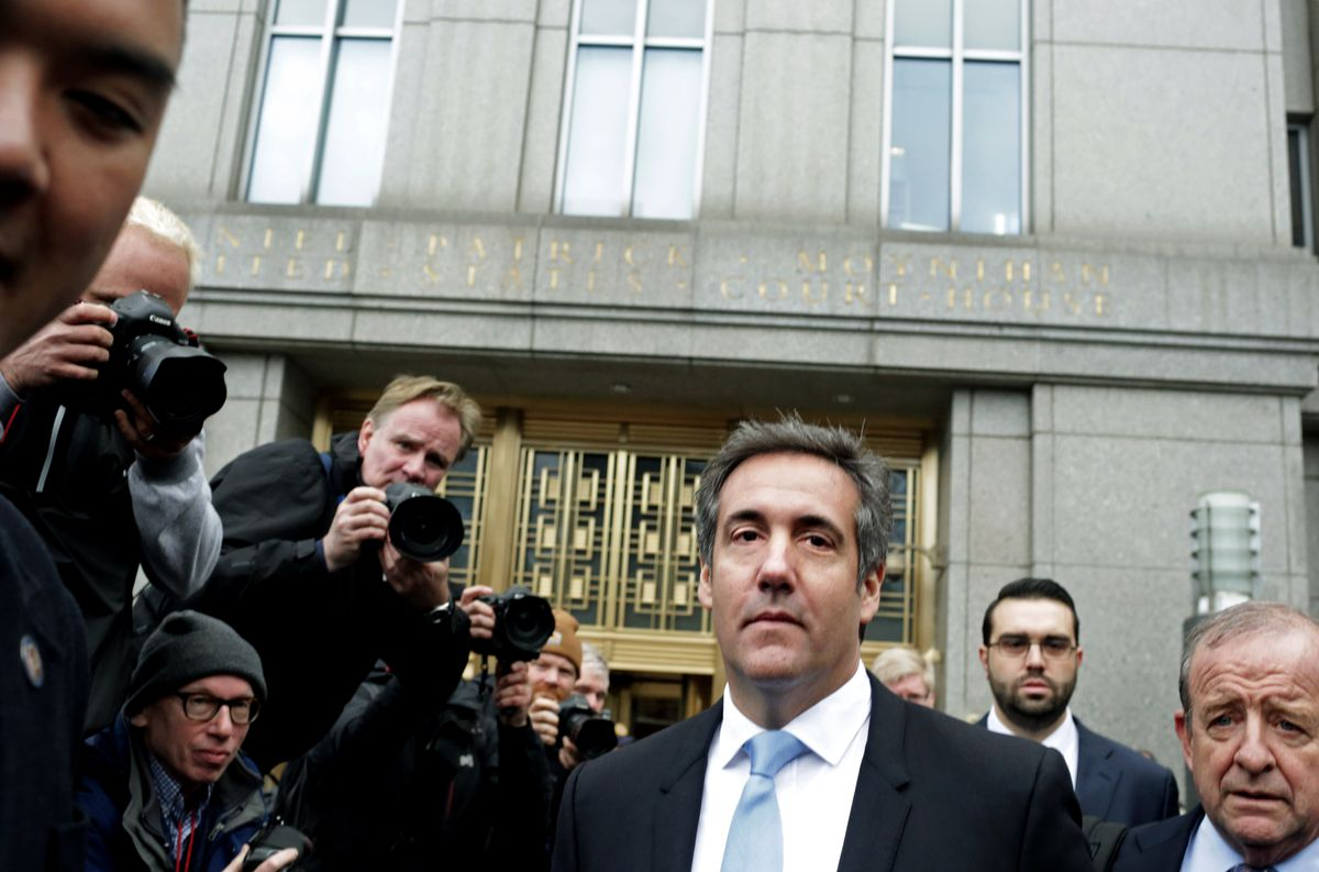 Trump's Personal Lawyer Michael Cohen Appears For Court Hearing Related To FBI Raid On His Hotel Room And Office