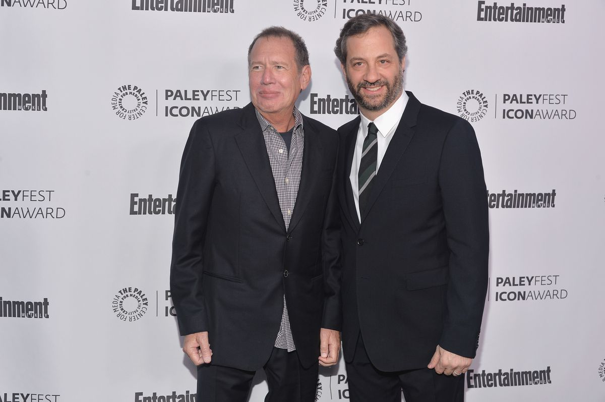 Garry Shandling (left) and Judd Apatow in 2014. | . Alberto E. Rodriguez/Getty Images