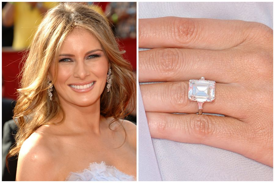 his diamond cut rings that job a say did racked wife engagment melania emerald donald about politics trump there engagement good what celebrity house unforgettable ring s you no want choosing carat denying from but