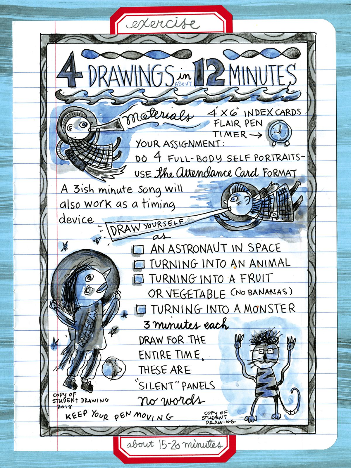A page from Lynda Barry's book Making Comics.
