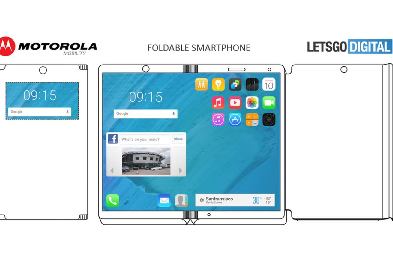 motorola patent shows foldable phone with case that can double as a wireless charger