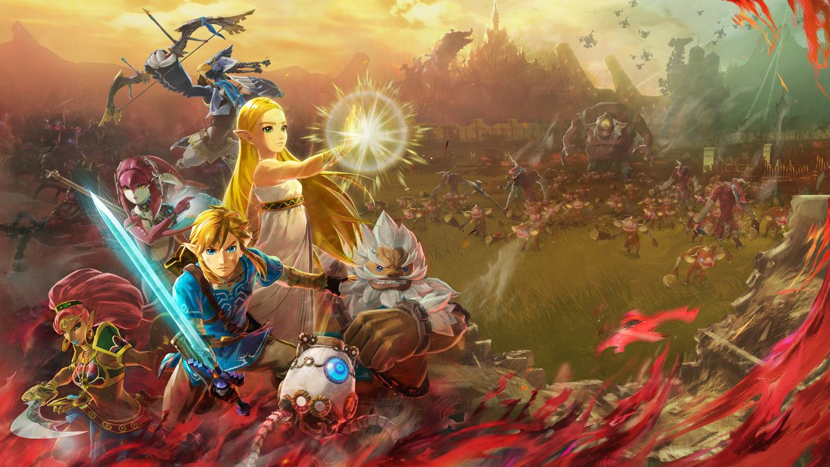 Key art for Hyrule Warriors: Age of Calamity.