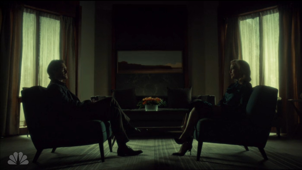 Will and Bedelia chat on Hannibal.