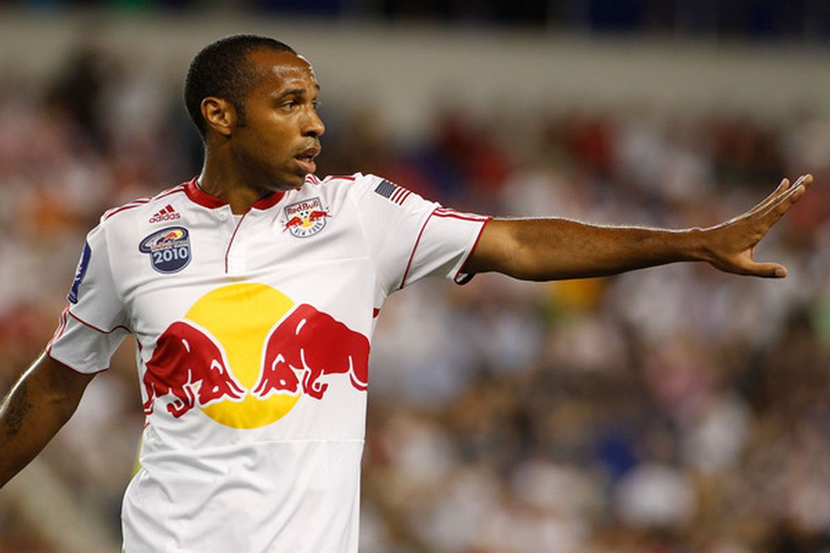 Thierry will be adding a stylish captain's armband to his matchday attire this season. (Photo by Mike Stobe/Getty Images for New York Red Bulls)