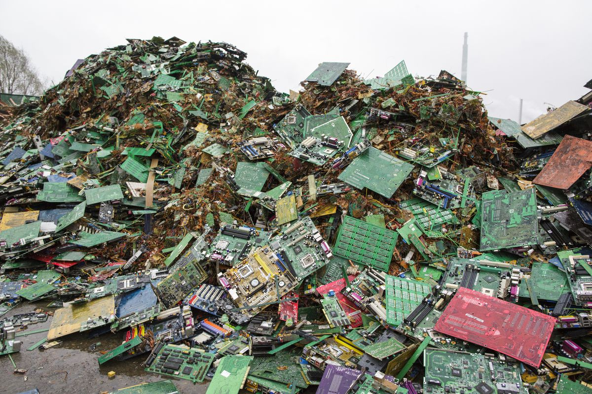 The Toxics In Our Electronics Are A Huge Problem But There May Be Scrap Recycling Pictures Zimbio Pile Of Electronic At Junkyard Hamburg Germany Thomas Trutschel Photothek Getty Images