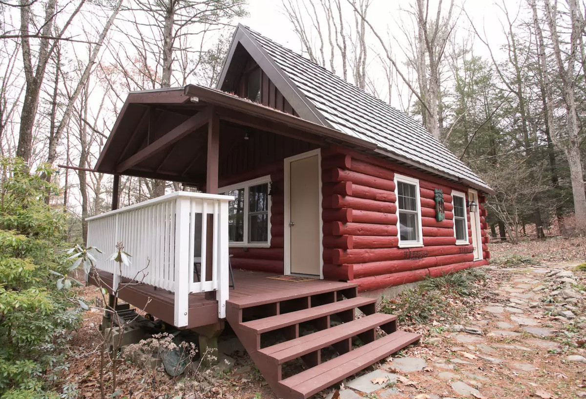 mountains the rental lake under cabins fire enjoy beach evening pocono delaware cabin cottage front sky river rate pet out special an friendly springtime starry