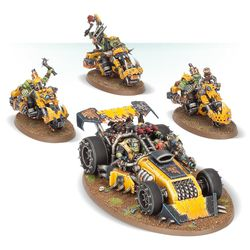 The vehicle in the foreground, called the Shokkjump Dragsta, is exclusive to the <em>Speed Freeks</em> standalone game.