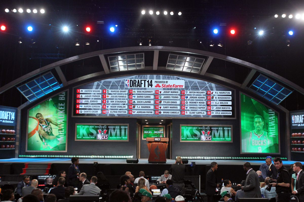 The 2015 NBA Draft will take place at 7:00 p.m. EST on June 25 at the Barclays Center in Brooklyn.