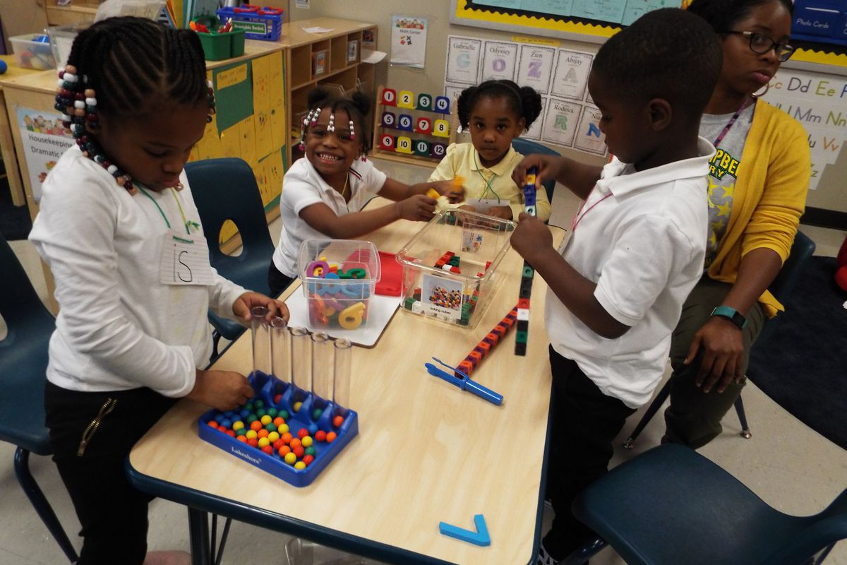 Pre-K students at Lucie E. Campbell Elementary in Memphis.