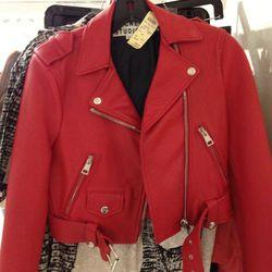 Acne Leather Moto Jacket, $809