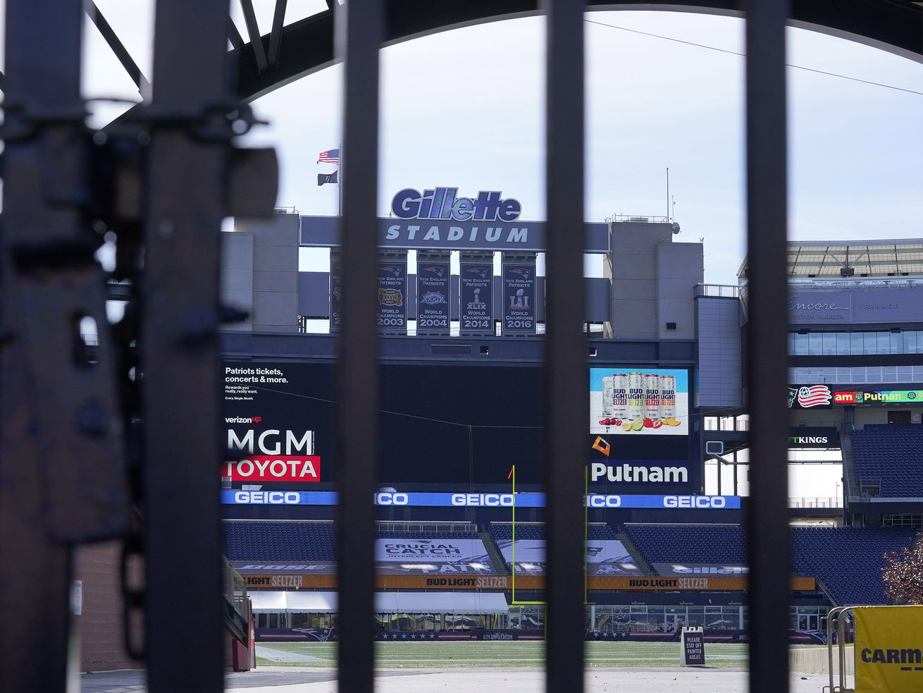 The Patriots' next game at Gillette Stadium could be in jeopardy.