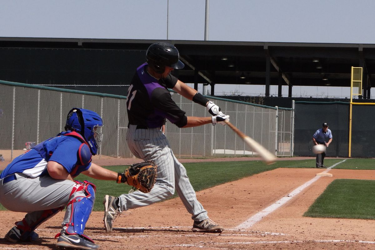 Will Swanner in Spring Training