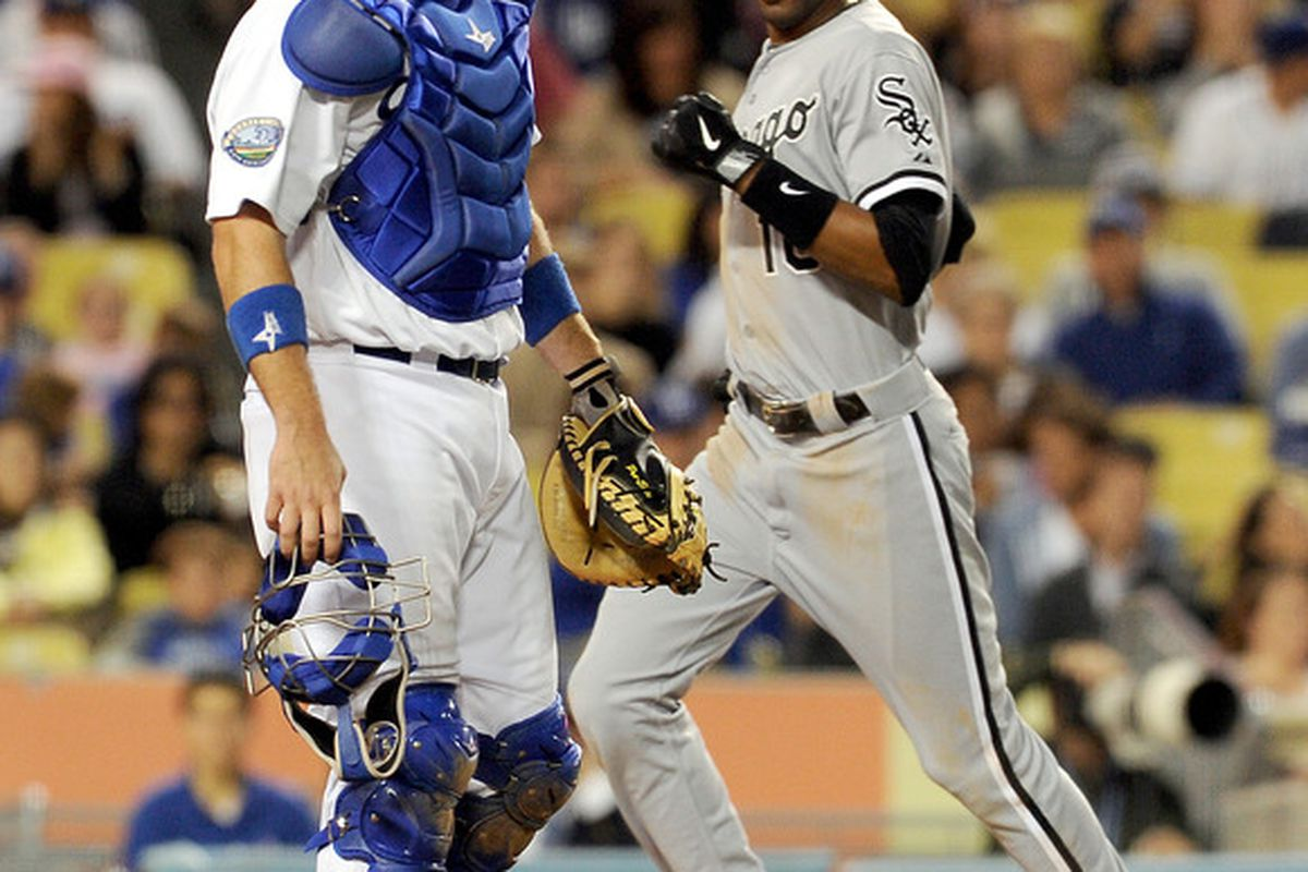 Alexei Ramirez accounted for four of the White Sox 5 runs in the Sox 5-4 victory over the Dodgers on Saturday night. Mandatory Credit: Jayne Kamin-Oncea-US PRESSWIRE