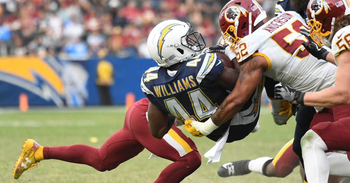 Los Angeles Chargers Rb Andre Williams Out For The Season
