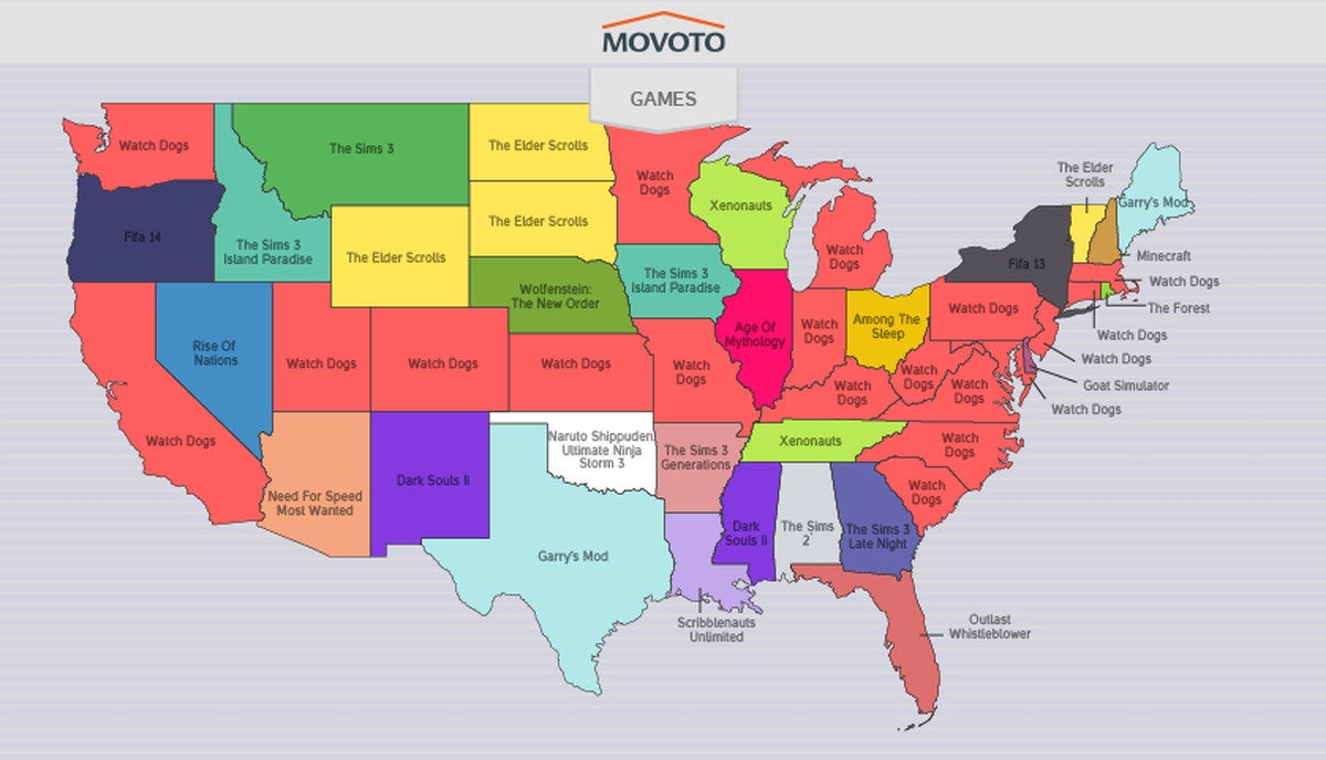 Map your states favorite television show to download illegally vox map courtesy of movoto gumiabroncs Choice Image