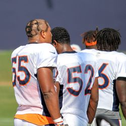 Rookie OLB for the Broncos Bradley Chubb couldn't hide his haircut from everyone today.