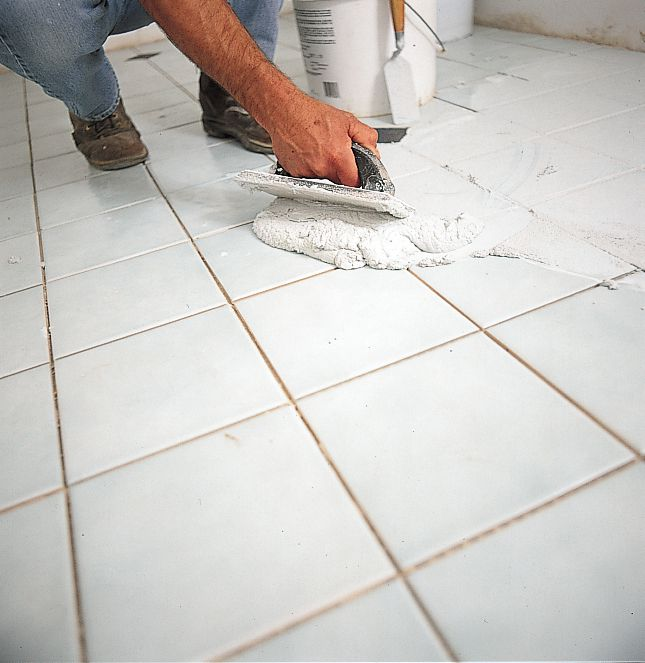 Filling Tile Joints With Grout