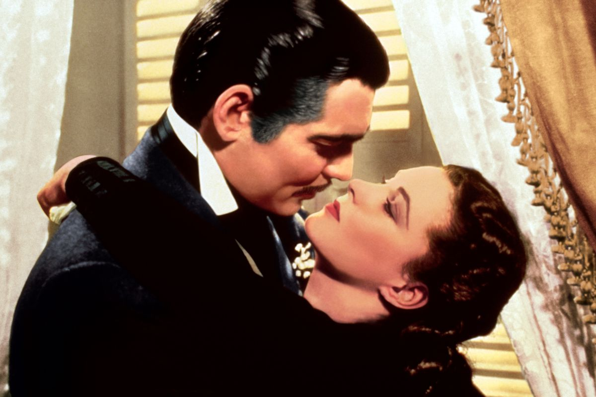 """Clark Gable and Vivien Leigh are shown in a scene from """"Gone with the Wind."""""""