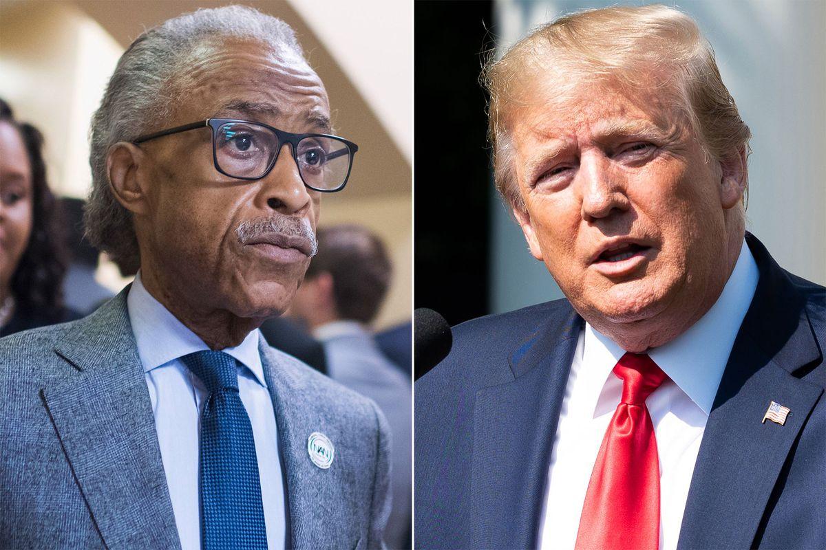 Al Sharpton and Donald Trump