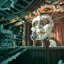 One of the creepier sculptures in <em>Beautiful Minecraft</em>