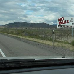 Fair warning: motorists see this billboard well before the Salina exit.