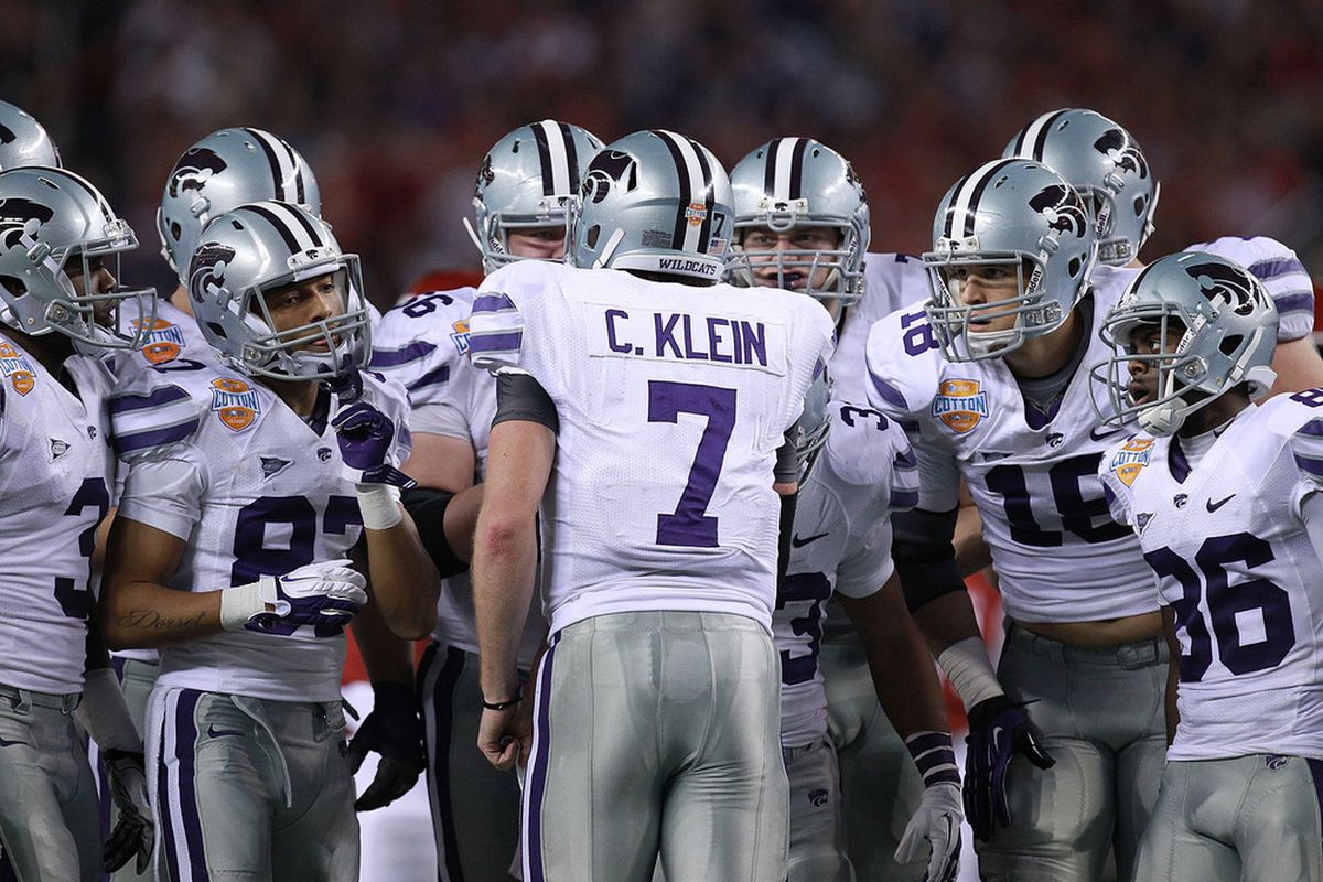 Collin Klein is many things, but a magician is probably not one of thoe things. (Photo by Ronald Martinez/Getty Images)