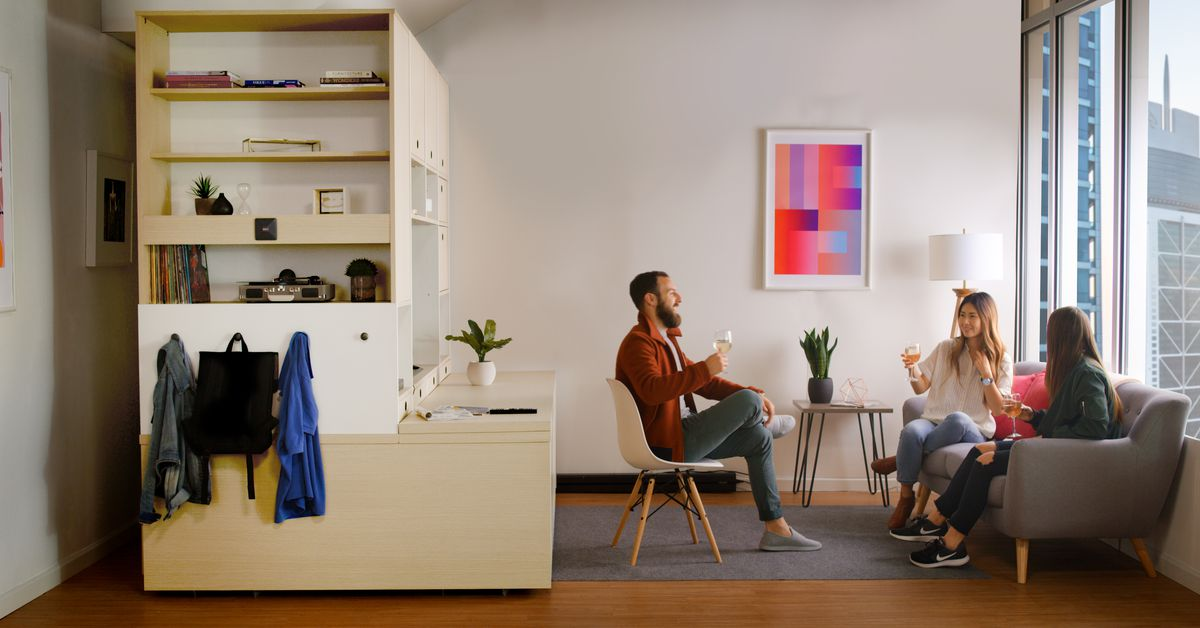Ori Robotic Furniture System Transforms Small Apartments Curbed Best 2 Bedroom Apartments For Rent In Boston Model Painting