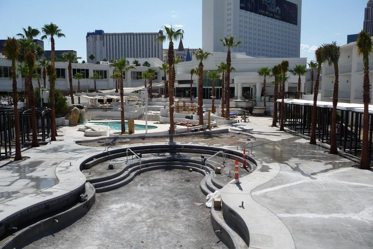 The second pool at Bagatelle Beach & Nightclub is nearly complete.