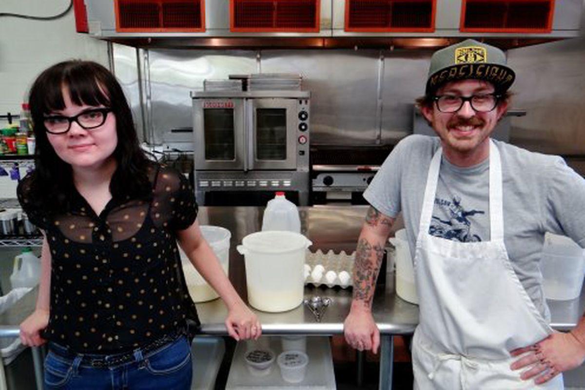 Sarah Miller and Aaron Barker make killer ice cream.