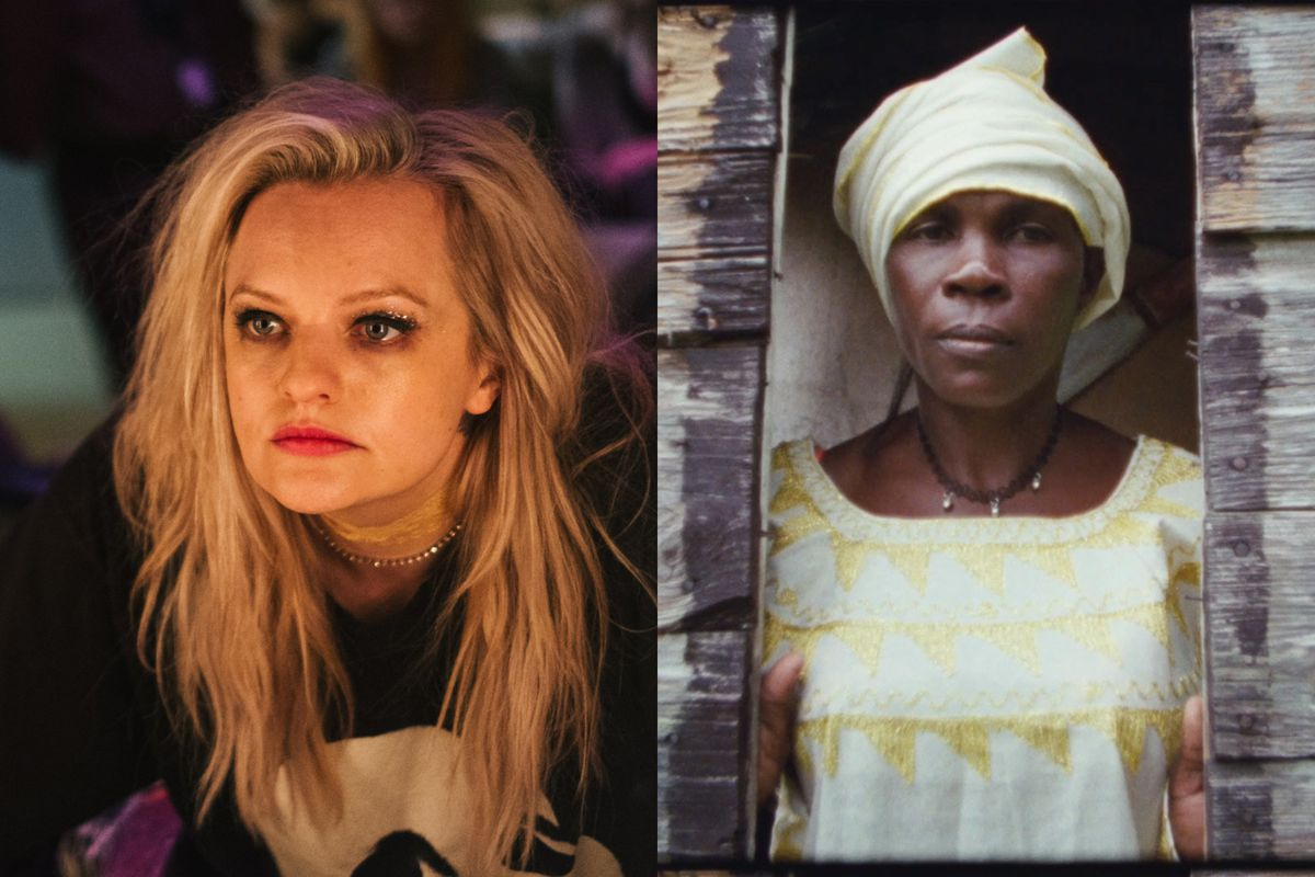Elisabeth Moss in Her Smell and a scene from Khalik Allah's Black Mother.