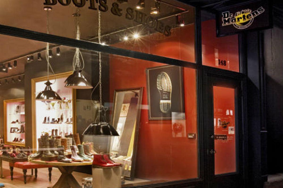 """The Dr. Martens Soho store via the brand's <a href=""""http://www.drmartens.com/page.asp?navid=70"""">website</a>"""