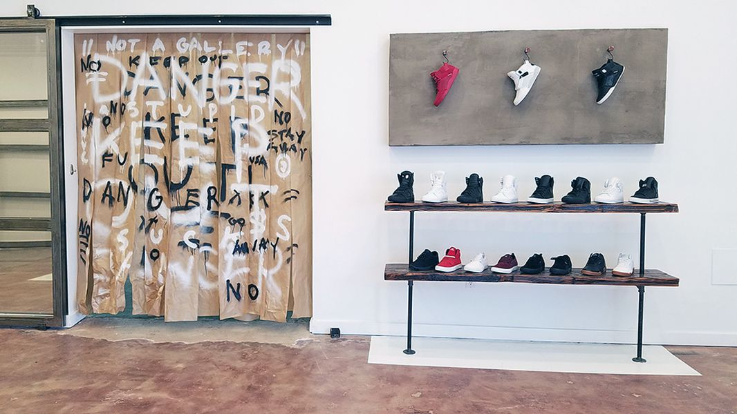 shoe wall supras cool creative space at melrose and fairfax is ready