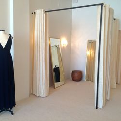 Since trying on dresses is the fun part, Reformation made sure to create spacious dressing rooms with multiple mirrors.