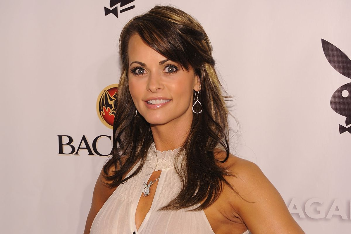 Karen McDougal, who is suing for the right to speak publicly about President Donald Trump, pictured here in 2010