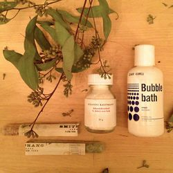 """Drawing another bath today as the winter weather is bringing on dry skin. I usually switch it up and play with different products. Here are a few things that I'm looking forward to using this month: <b><a href=""""http://www.smithchang.com"""">Smith & Chang Gen"""