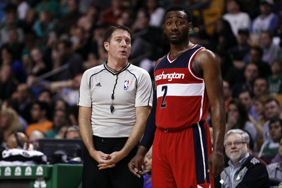 Both this referee and John Wall knew that Friday just wasn't the Wizards' night.