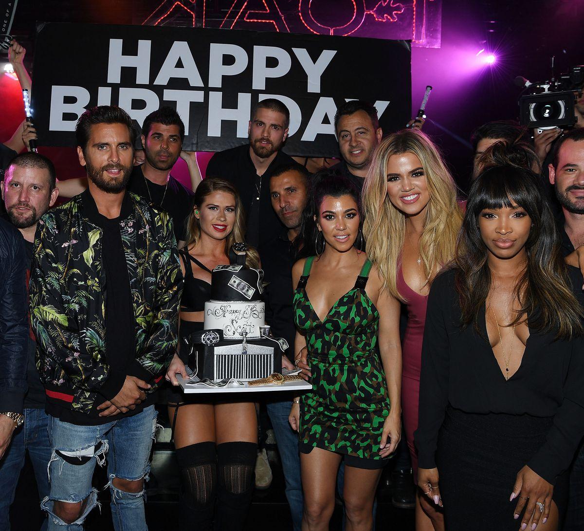 Scott Disick, Kourtney Kardashian, Khloe Kardashian & Malika Haqq