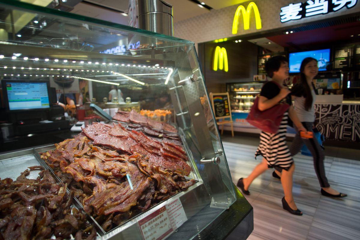 A McDonald's in Shanghai.