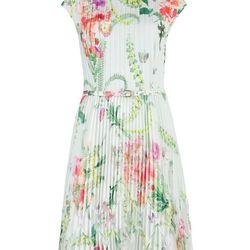 "Perlaa Wallpaper Dress, <a href=""http://www.tedbaker-london.com/store/womens/wallpaper-floral-pleated-dress-GD93-WS3W-PERLAA-37.html"">$298</a>"