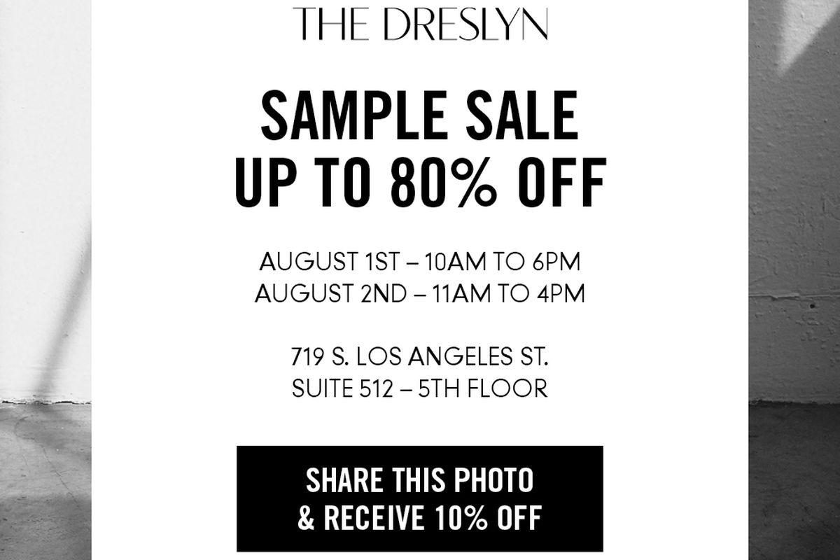 Flyer via The Dreslyn