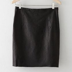 """<strong>Steven Alan</strong> Ansel Leather Skirt, <a href=""""http://www.stevenalan.com/ANSEL-LEATHER-SKIRT/F13_1_WSK0048,default,pd.html?dwvar_F13__1__WSK0048_color=B008#prefn1=product-type-code&prefv1=1