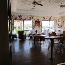 A look at the dining room at Chocolate & Spice.